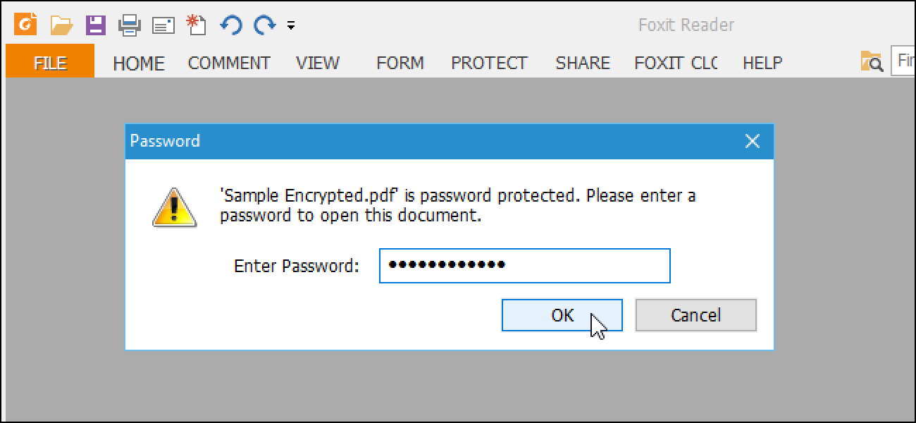 Sample Password Protected Pdf File