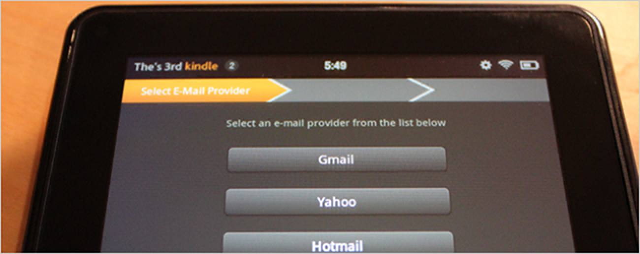 how to send email kindle fire