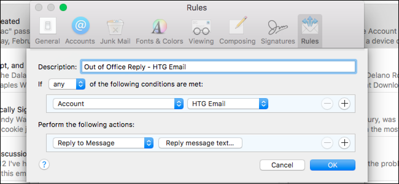 How to Set Up an Out of Office Reply in Apple Mail for Mac