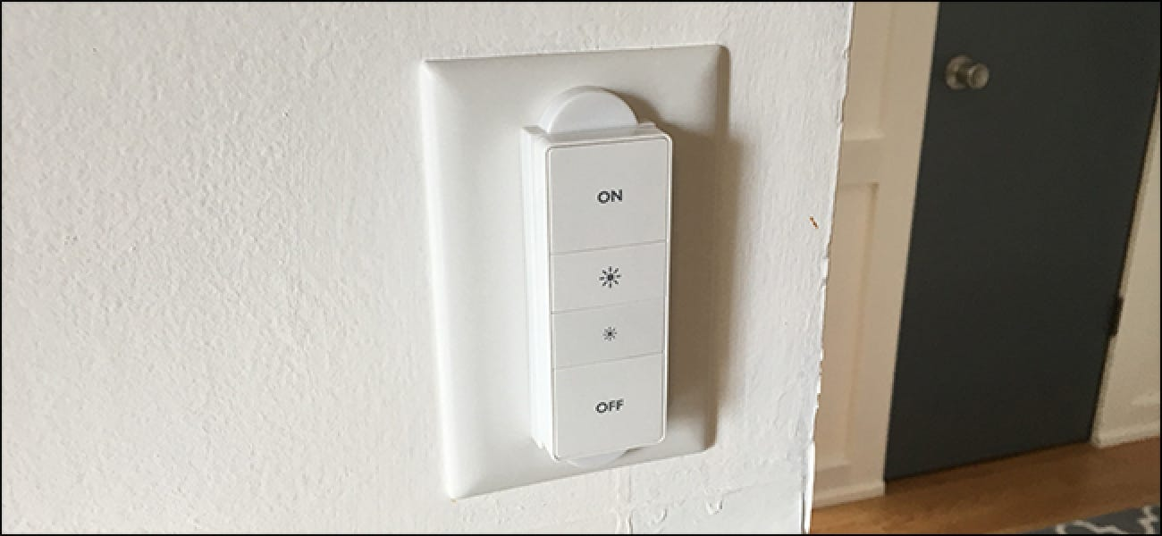how to install a hue dimmer switch over an existing light switch. Black Bedroom Furniture Sets. Home Design Ideas