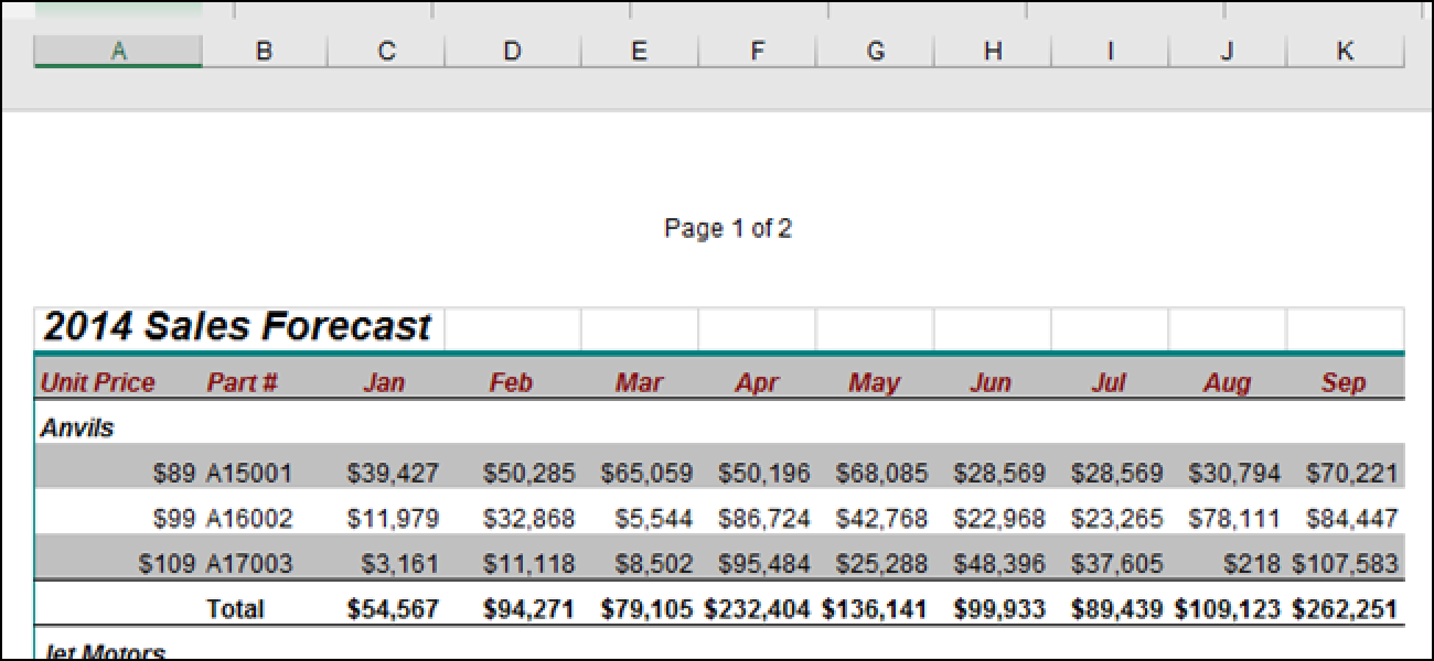 how to add header in excel