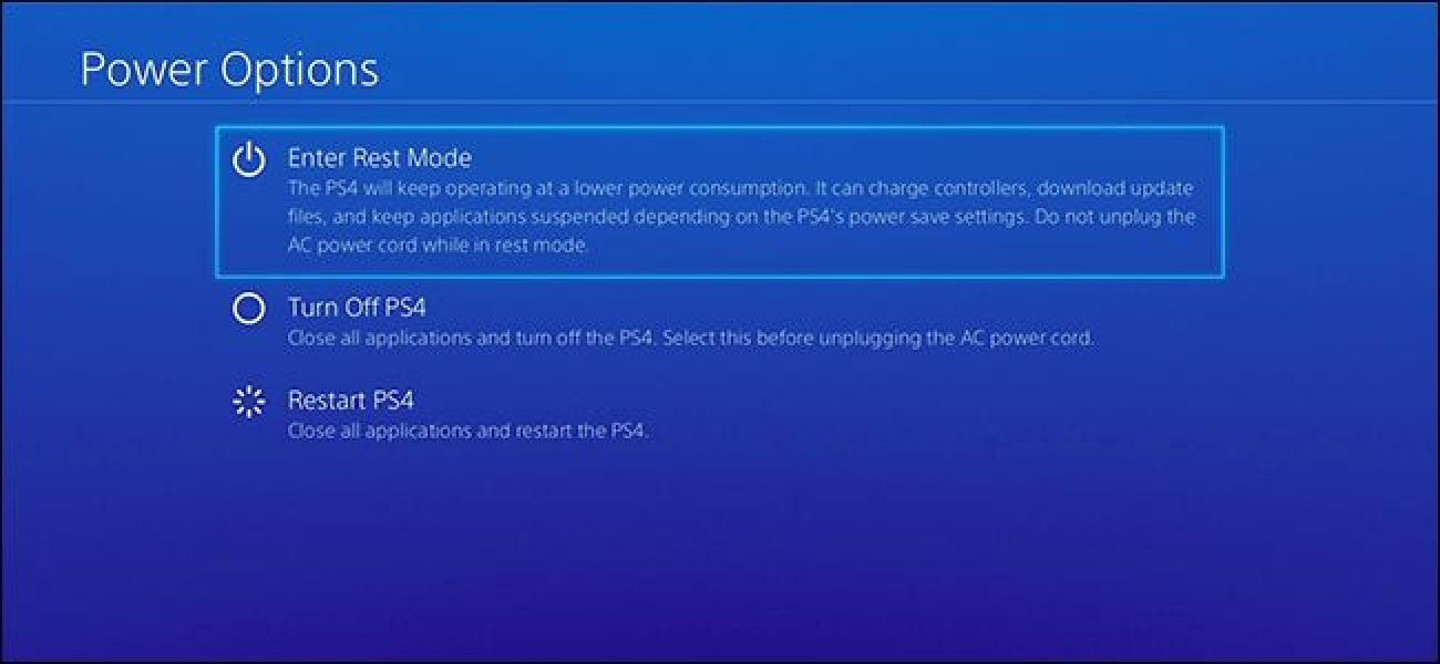 Should You Use \u201cRest Mode\u201d on Your PlayStation 4, or Turn It Off?
