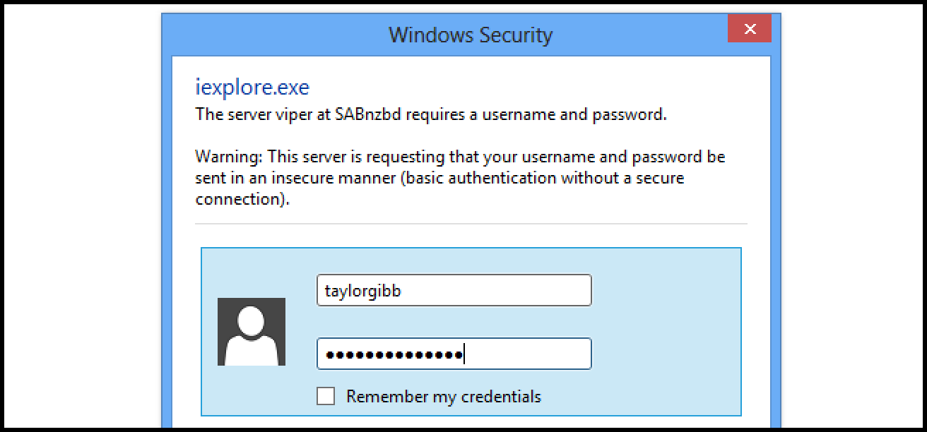 how to remember password in internet explorer