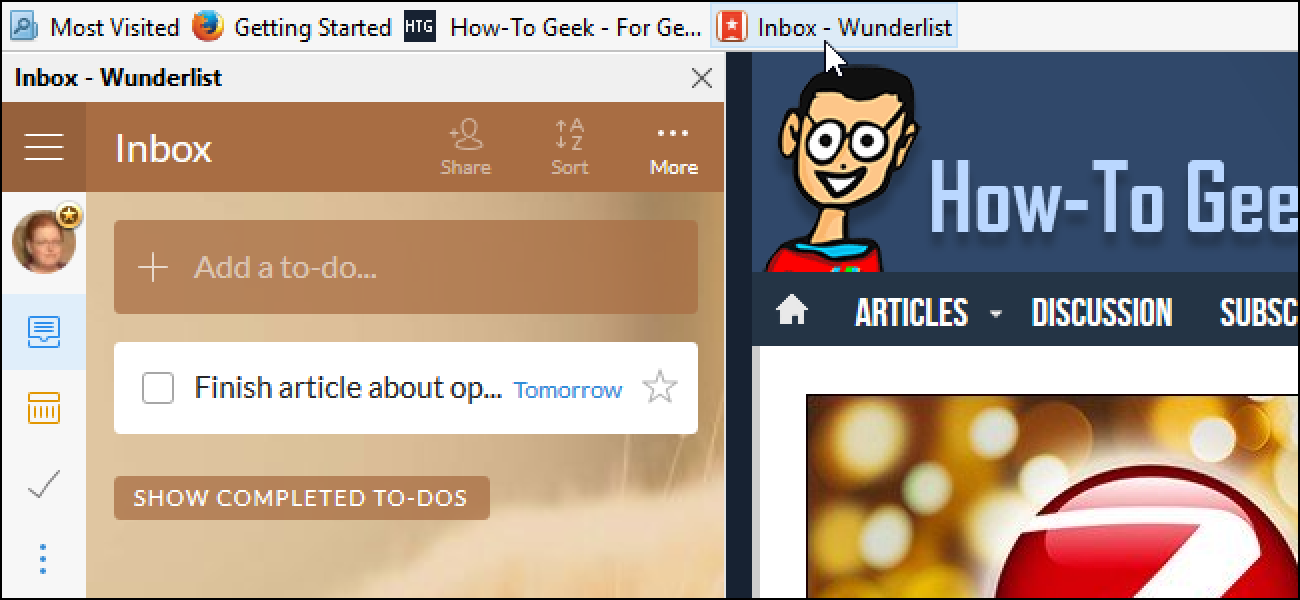 How to load a website in firefox s sidebar for It web page