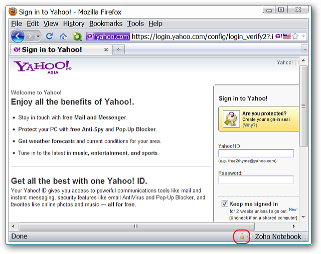 View A Website's Security Level In Firefox's Address Bar