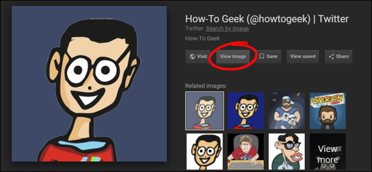 how to bring back the �view image� button in google image