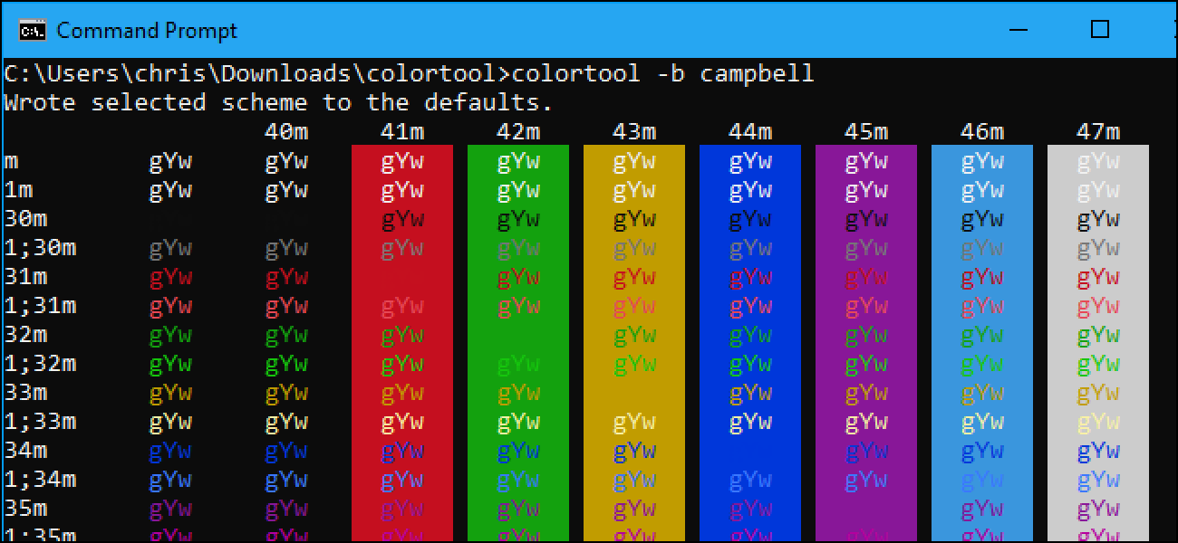 how to customize your command prompt u2019s color scheme with
