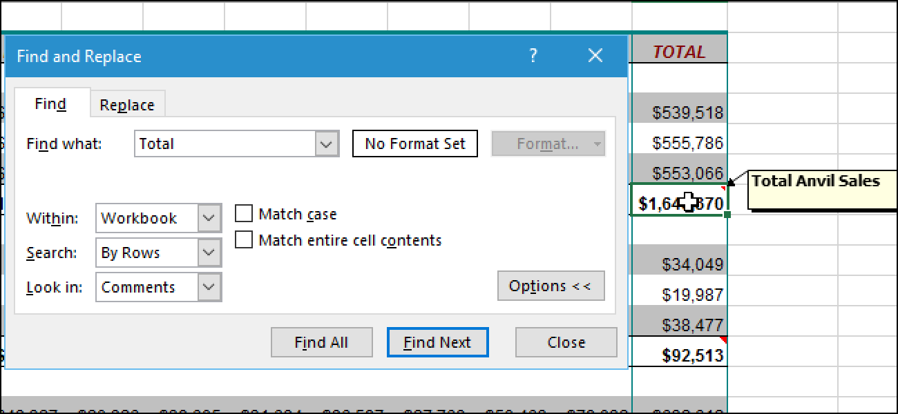 how to find insert on excel