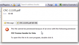 pdf preview handler for vista error
