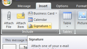 how to add a signature in windows live mail