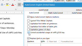 how to get automatic capital letter in word on mac