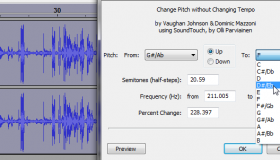 How To Change The Pitch And Tempo Of An Audio Track