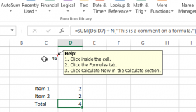 excel how to add subscript in comments