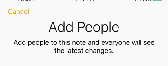 How to Collaborate on Notes in iOS 10