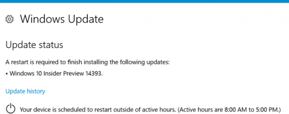 how to set active hours in windows 10