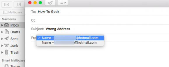 how to change addresses in mail pc apple