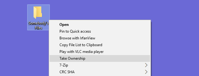 "How to Add ""Take Ownership"" to the Right-Click Menu in Windows Explorer"