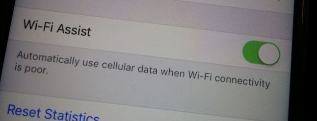 how to turn off data assist wifi