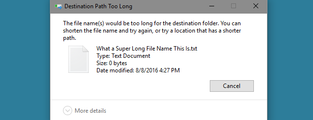 How to Make Windows 10 Accept File Paths Over 260 Characters