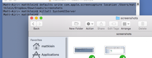 how to change where screenshots are saved mac