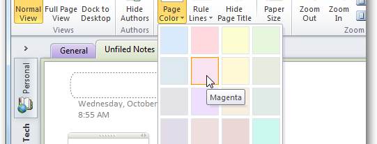 personalize your onenote 2010 notebooks with backgrounds