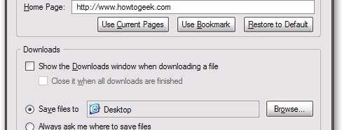how to download to a folder firefox