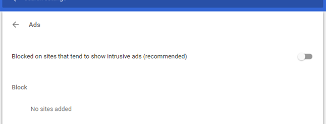how to activate chrome add block