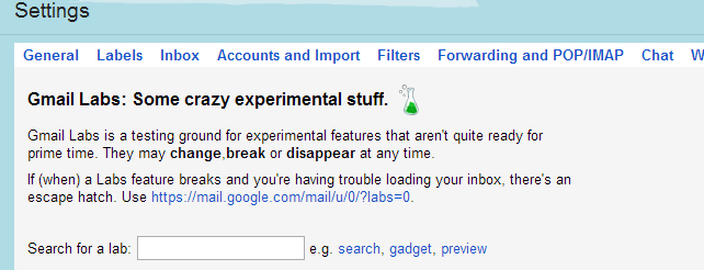 Pimp Your Inbox By Enabling Labs Features In Gmail