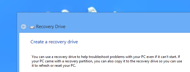 how to create and use a recovery drive or system repair