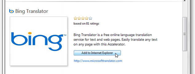 Translate Languages in IE 8 with Bing Translator