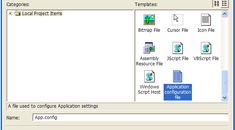 How to Add a Configuration File to your Windows Forms application