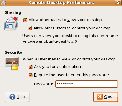 Allow Remote Control To Your Desktop On Ubuntu