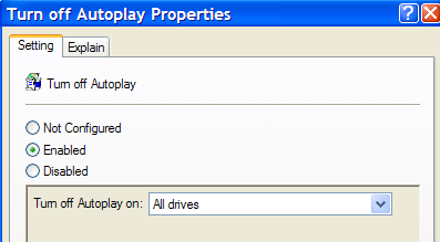 Disable Autoplay Of Audio Cds And Usb Drives
