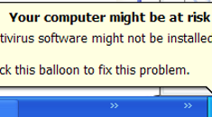 "Disable ""Your computer might be at risk"" Popup in Windows XP SP2"