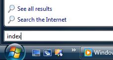 Adding Indexing Locations in Windows Vista