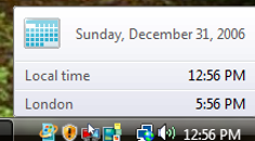 Enable Additional Clocks in Windows 7 or Vista
