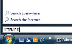 how to delete temp files windowsss vista