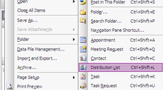 Save Time With Distribution Lists in Outlook 2003