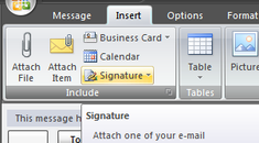 Add Signature In Outlook 2007 Using The Ribbon