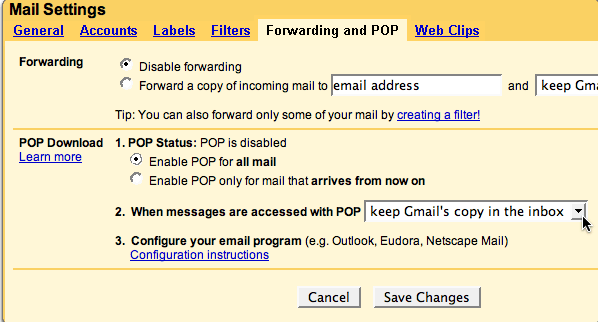 Add Your Gmail Account to Outlook 2007