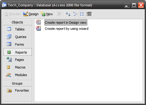how to use access 2007 to create database