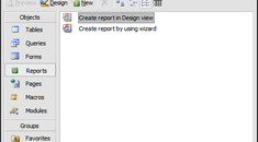 Create A Report in MS Access 2003 Using Report Wizard