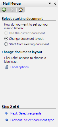 shipping label in word
