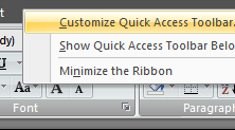 Save Time By Customizing the Quick Access Toolbar in Office 2007