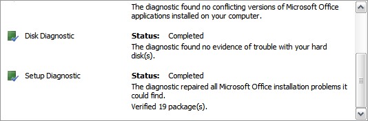 Detect and Repair Applications In Microsoft Office 2007 - Tips