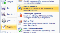 Secure Your Private Word 2007 Documents