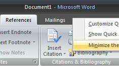 """Maximize Space by """"Auto-Hiding"""" the Ribbon in Office 2007"""