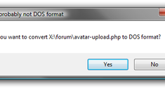 """Stop UltraEdit """"File is probably not DOS format"""" Error Message"""