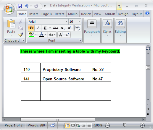 Keyboard Ninja: Insert Tables in Word 2007 - Tips general news