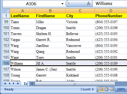Make Row Labels In Excel 2007 Freeze For Easier Reading